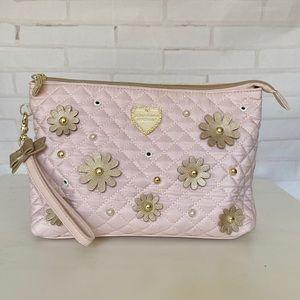 Blush Pink Betsey Johnson Cosmetic Bag